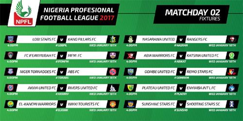 NPFL matchday 2 fixtures