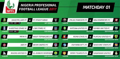NPFL week 1 fixtures