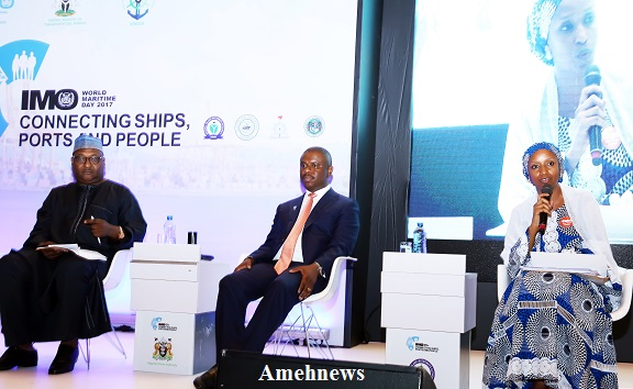 NPA Anchor NSC & NIMASA discussants at the 2017 World Maritime Day celebration