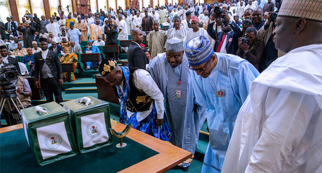 Buhari bans recruitment by MDAs, presents N8.612tn budget
