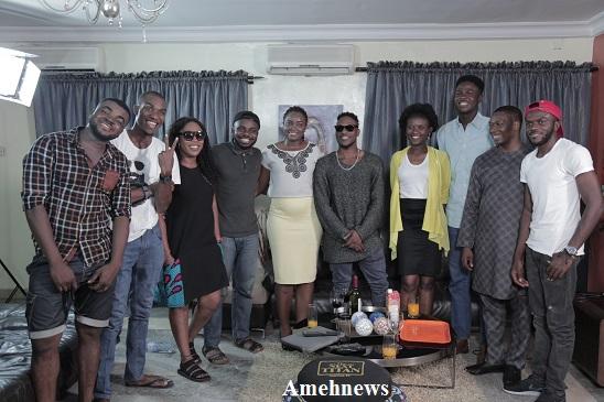 Damilola Afolabi (LAX) on a courtesy visit to contestants of The Next Titan, an entrepreneurial reality TV show