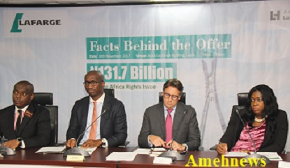 Lafarge Africa Plc To Raise N132bn Capital Through Rights Issue