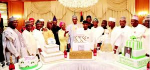 Osinbajo, governors join Buhari to cut birthday cakes