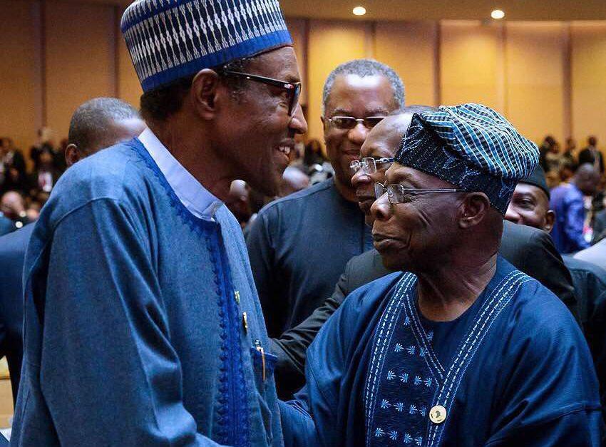 Buhari, Obasanjo meet in Addis Ababa