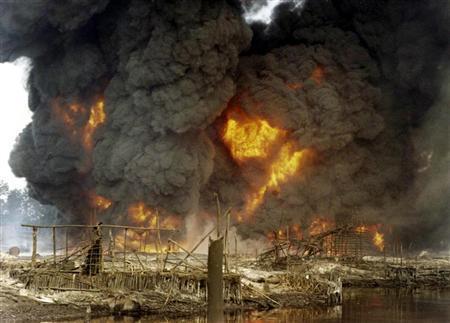 Nigerian pipeline fire threatens gas supply to Ghana