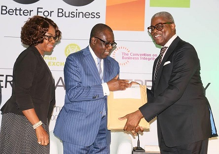 Presentation of Corporate Governance Rating System Certification by NSE to Directors of Fidelity Bank