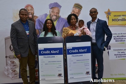Fidelity Bank presents prize to the Bank's 4th Monthly /2nd Bi-monthly winners