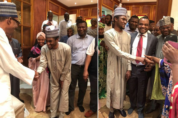 Return of Buhari's son after medical trip excites mum