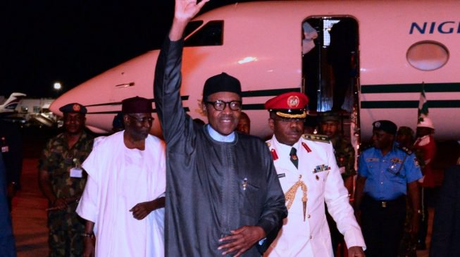 Buhari returns to Nigeria after US trip