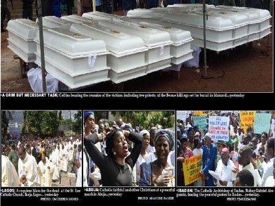 Catholic faithful, others protest nationwide