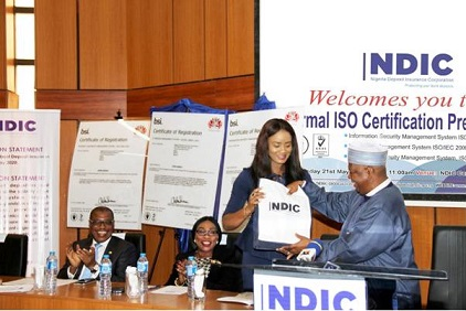 NDIC OBTAINS THREE INTERNATIONAL STANDARDS ORGANIZATION CERTIFICATIONS AWARD
