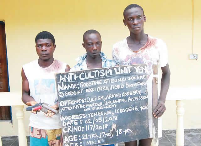 Inspector shot as police arrest three cult members