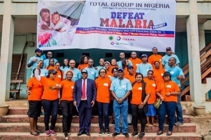 TOTAL GROUP IN NIGERIA MARKS WORLD MALARIA DAY 2018
