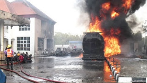 NIPCO Filling Station At Ogo Oluwa Area In Osogbo gut fire