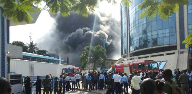 Fire outbreak at Ecobank headquarters
