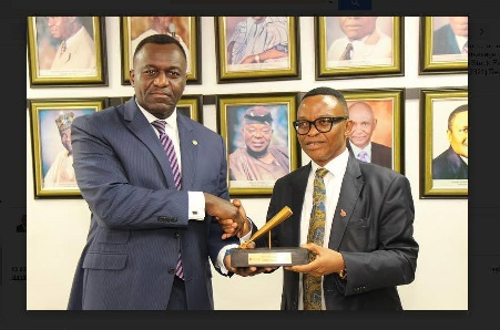 Bank Anthony Okoroafor, Chairman PETAN Lead Team Closing Gong Ceremony at the Exchange