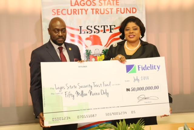 Security: Fidelity Bank Donates N50m To Lagos State Security Trust Fund
