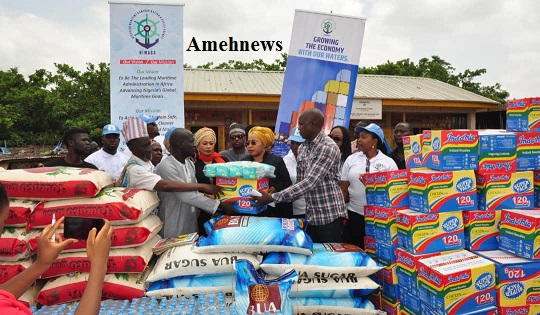 NIMASA PRESENTS RELIEF MATERIALS TO IDP CAMPS as Peterside calls for more support