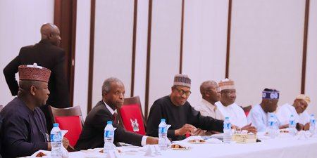 Uduaghan, Marwa, others join Buhari at APC meeting