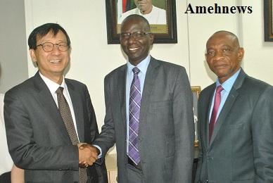Korea University lecturers Delegates Visits SEC in Abuja
