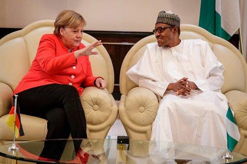 Buhari, Angela Merkel meet in Aso Rock