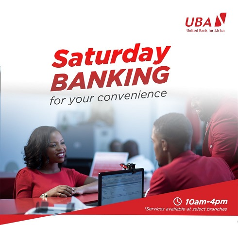 UBA Introduces Saturday Banking in some selected Areas