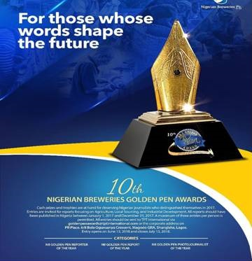 10th NIGERIAN BREWERIES GOLDEN PEN AWARDS HOLDS SEPTEMBER 28