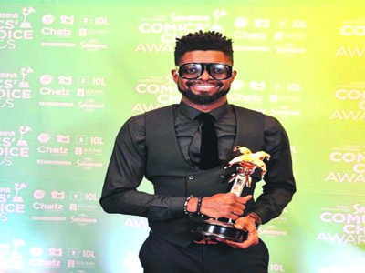 Basketmouth is Savanna Pan-African Comic of the Year