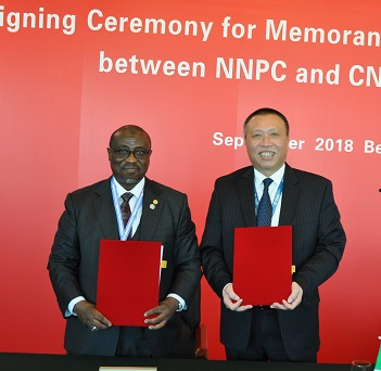 NNPC, China Sign Agreement on Oilfield Services, Research & Dev't
