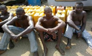 5 pipeline vandals caught with 60,000 litres of petrol at ldimu, Lagos