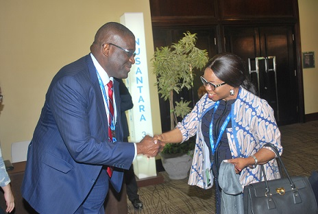 Waheed Olagunju, BoI ED Meets Ms. Mary Uduk, DG SEC during World Bank/IMF Annual Meetings