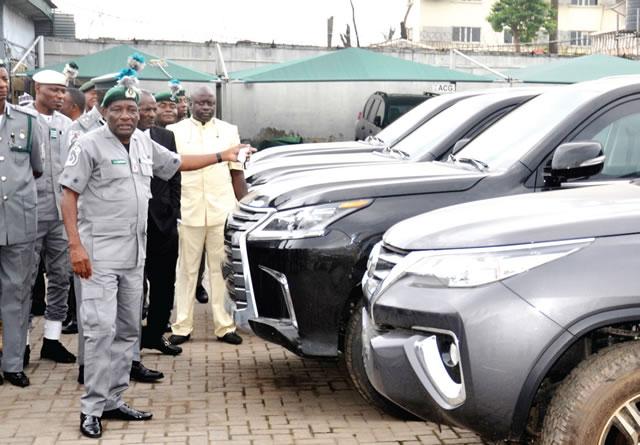 Customs seize N2.2bn bulletproof cars, contraband