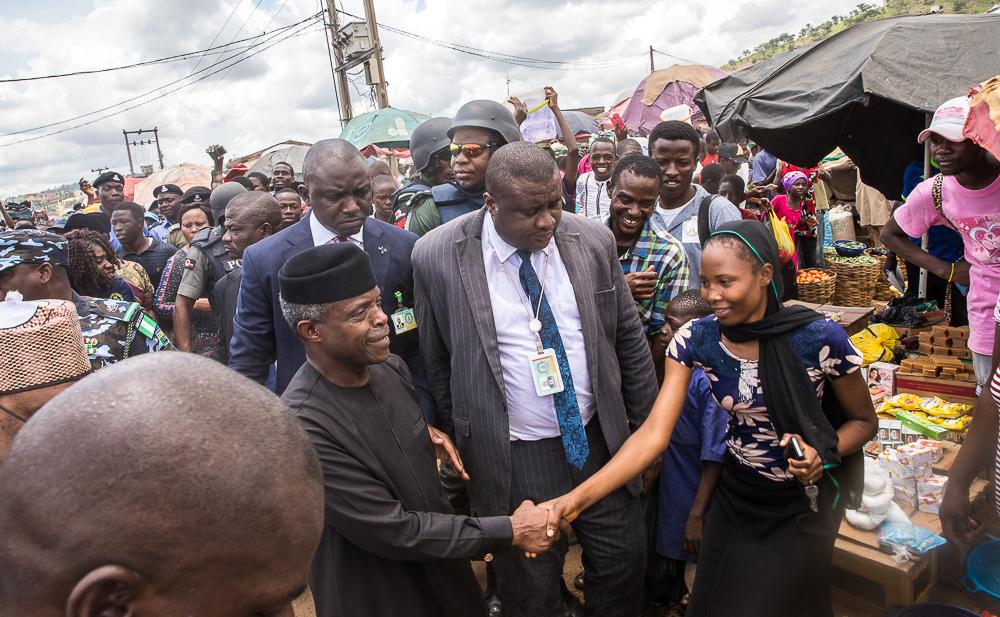 Osinbajo takes free-interest loans to Lagos markets