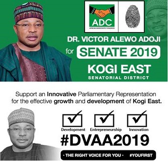 Kogi East Youth plans massive votes for Victor Alewo Adoji, ADC to represents 'Kogi East Senatorial District'