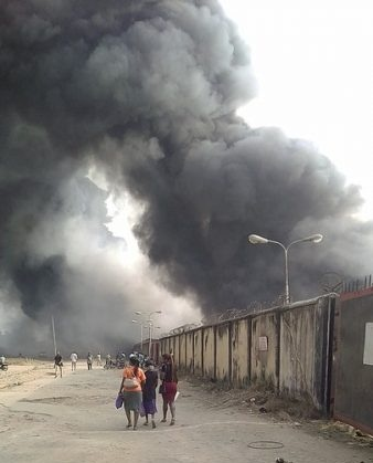 Fire Destroyed Guinness Nigeria Brewery in Aba