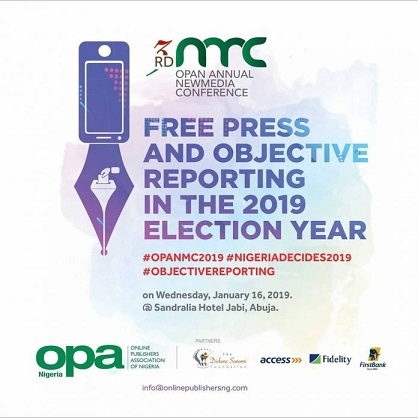 The 3rd Annual OPAN New Media Conference Holds Today At Abuja with Osinbajo, Obi, Magu, Yakubu Participation