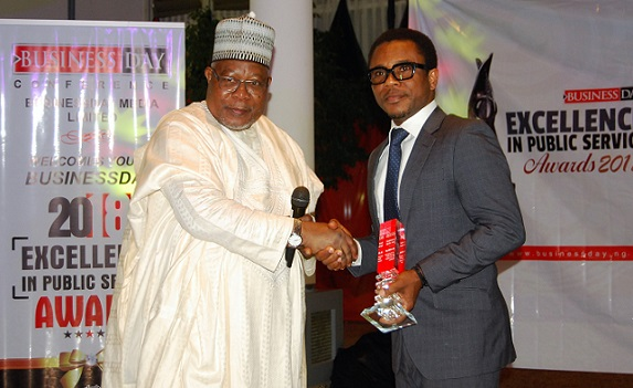 AMCON MD leads15 Others Win Businessday Excellence In Public Service Award