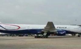Air Peace Third Boeing777 Arrives Air port Lagos