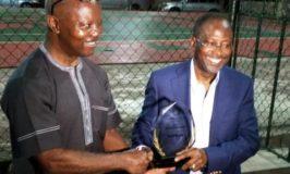 NAMA boss honoured as patron of the Sky Tennis Club, Ikeja
