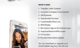 ZENITH BANK UPGRADES ITS MOBILE BANKING APPLICATION
