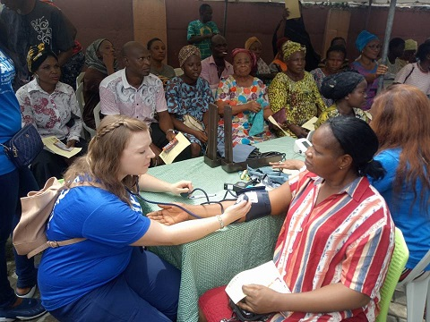 EKEDC CSR: Residents defy rain to attend free healthcare service