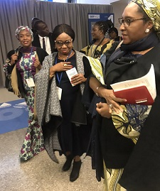 Photo News: SEC DG, Ms. Mary Uduk and  Finance Minister, Hajia Zainab Ahmed at on-going World Bank/International Monetary Funds Meeting