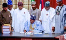 Buhari signs N10.594tr 2020 Budget