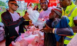 Uzoka, Wizkid Give Back to Thousands at the UBA Foundation Food Bank.