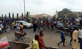 Footballer's death: Policemen, protesters clash in Sagamu