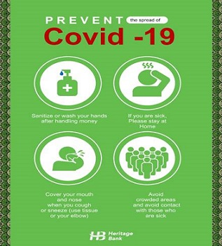 COVID-19: Heritage Bank offers seamless service to stakeholders, curbs impact of virus
