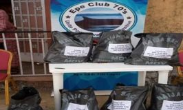 CONVID-19 Epe Club 70's distributes relief materials to residents
