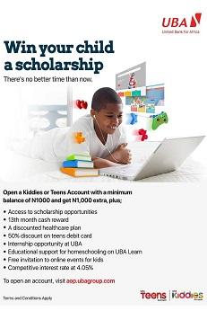 UBA Revamps Kiddies, Teens Accounts; Customers to Get 13th Month Reward, Scholarships, Other Benefits