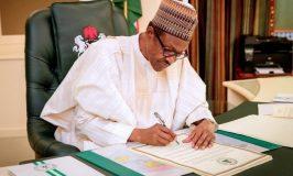 Buhari Signs Order to Implement Financial Autonomy for States' Legislature, Judiciary