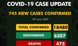 Nigeria Records 745 COVID-19 Cases, Total Now 18,480